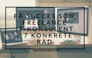 Viser indlæggets titel: Succes som freelance IT-konsulent - 7 konkrete råd