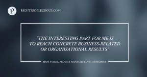 .NET developer  and project manager Hani Faylee – 10 questions to the expert