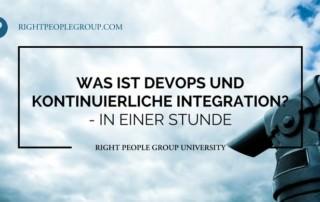 Was ist DevOps und kontinuierliche Integration?