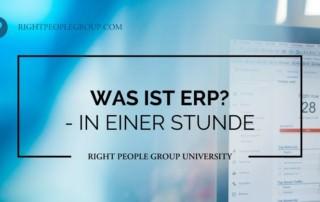 Was ist ERP?