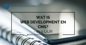 Wat is Web Development en CMS?