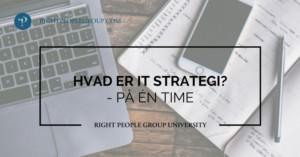 Hvad er IT strategi?