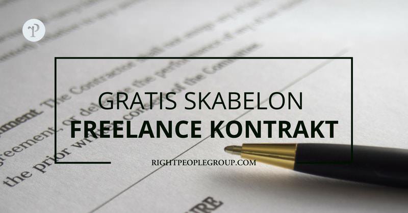 freelance kontrakt eksempel