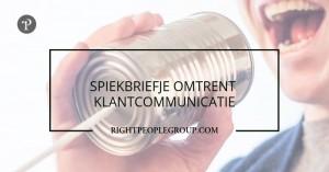 DISC-profiel spiekbriefje omtrent klantcommunicatie