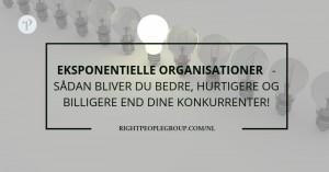 Eksponentielle organisationer – sådan bliver du bedre, hurtigere og billigere end dine konkurrenter!
