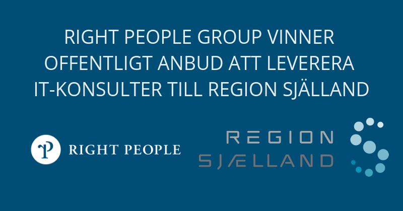 Right People Group vinner offentligt anbud att leverera IT-konsulter till region Själland