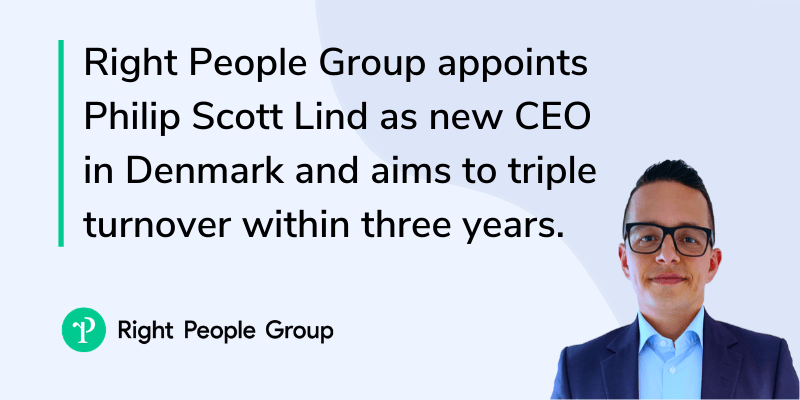 Right People Group hires new CEO in Denmark and aims to triple turnover within 3 years